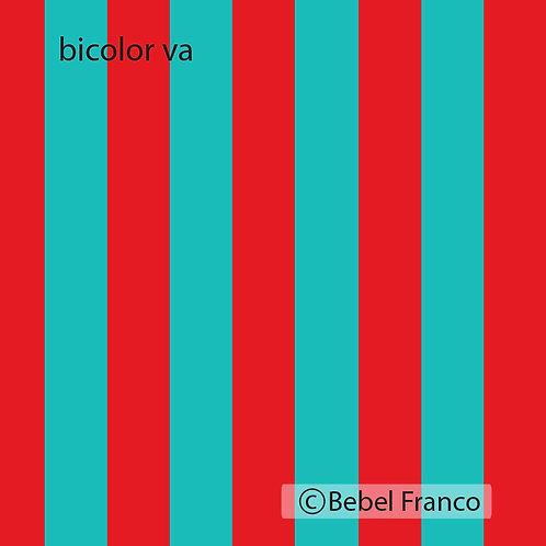 Tecido com estampa paradecoração bicolor vermelho e azul
