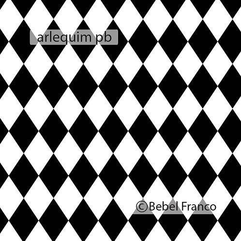 Papel de parede arlequim preto e branco