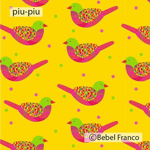 Tecido para decoração infantil estampa piu-piu amarelo