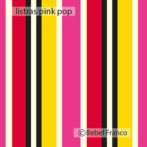 papel de parede listras pink pop