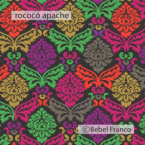Tecido com estampa para decoração  rococó apache