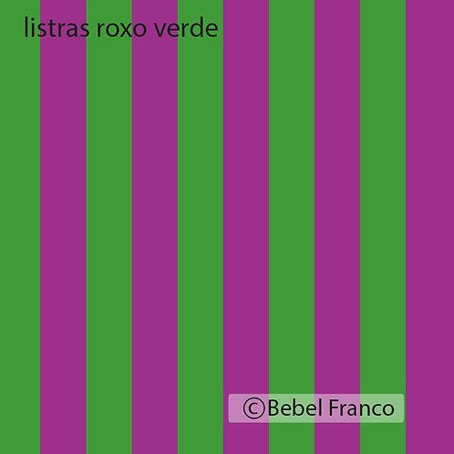 papel de parede listras roxo e verde