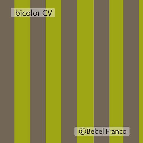 Tecido com estampa para decoração listra bicolor cimento e verde fluor
