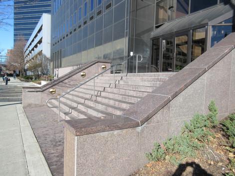 Refurbished steps and walls
