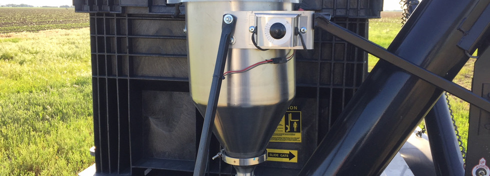 CT 6 gallon 12v dry applicator mounted on an EasiLoad Seed System box tender.