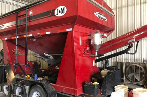 6 gallon 12v w/auger on J&M bulk seed tender.