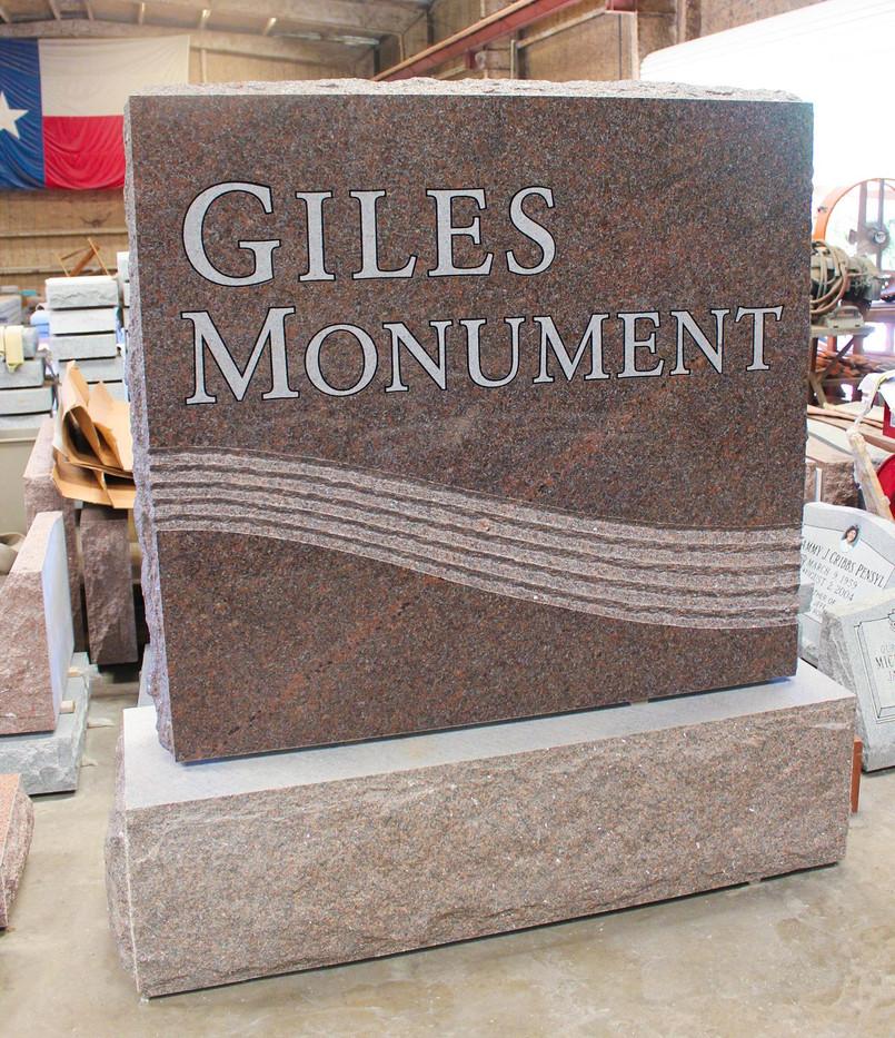 Granite sign