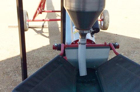 CT Standard Dry Applicator on Portable & Adjustable Stand with KSI conveyor.