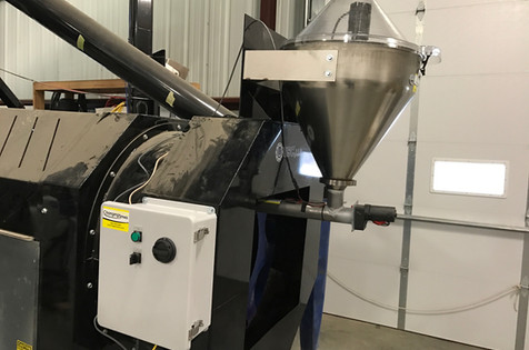 14 gallon dry applicator, auger & automated panel on USC drum treater.
