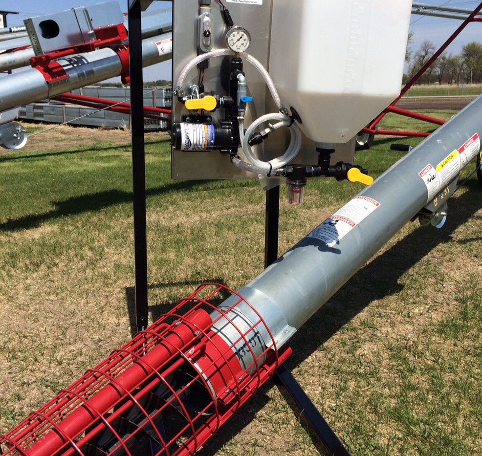 CT Liquid Applicator on Portable & Adjustable Stand with Mayrath Auger.