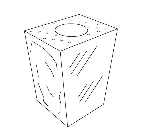 Square Tapered Vase: Rushmore Mahogany