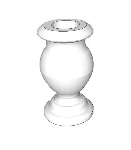 Turned Vase: China Black