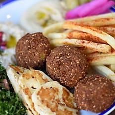Grilled Halloumi & Falafel Plate