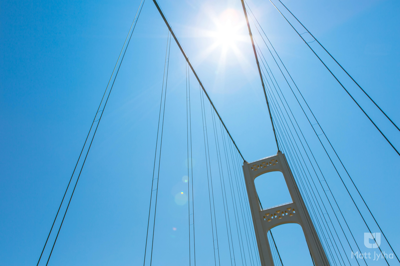 Sunny Mackinac Bridge