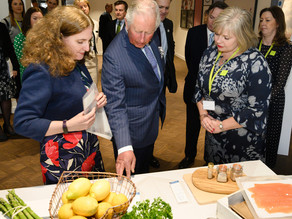 Presenting CuanSave to HRH Prince Charles