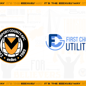 Newport County AFC announce First Choice Utilities as new back of away shirt partner