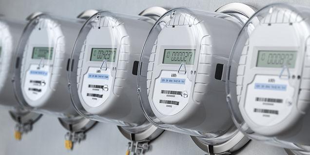 digital-electric-meters-in-a-row-measuri