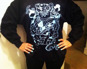 Crazy Gambler Bear Sweatshirt