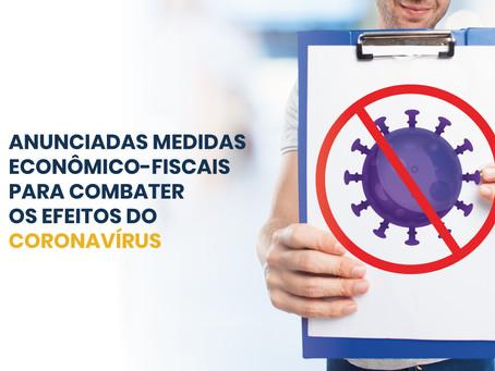 Anunciadas medidas econômico-fiscais para combater os efeitos do coronavírus