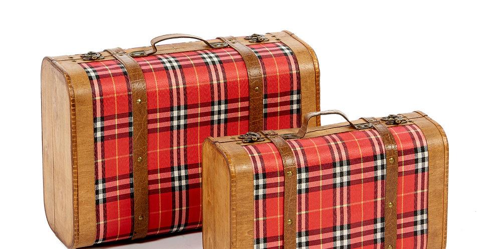 Valigie decorative - set da 2