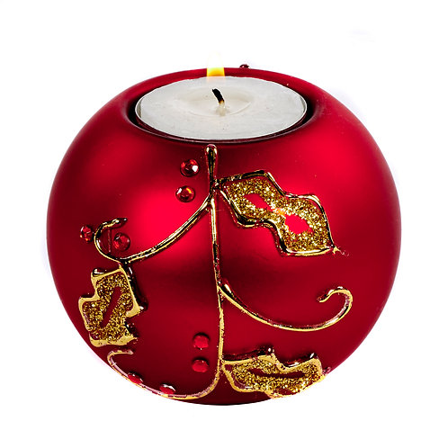 Tealight sfera rossa