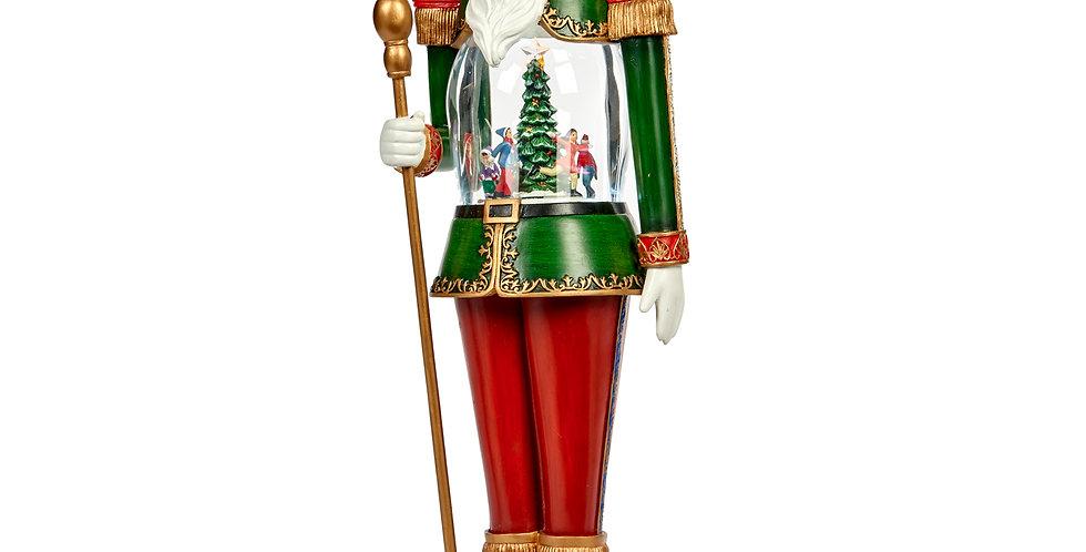 Schiaccianoci carillon con luci 56 cm