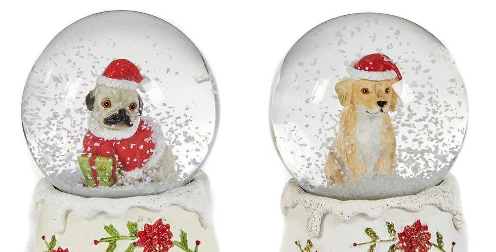 PALLA DI NEVE CON CANE - SNOW GLOBE WITH DOG