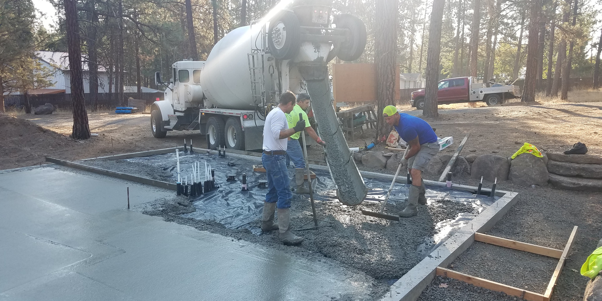 Beautiful day to pour concrete