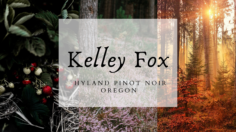 Kelley Fox Hyland Pinot Noir, 2017, Oregon