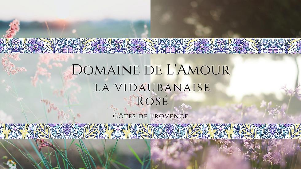 Domaine de L'Amour Provence Rosé, La Vidaubinaise, 2019