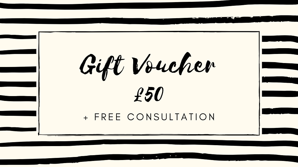 £50 Gift Voucher (incl. Free Consultation)