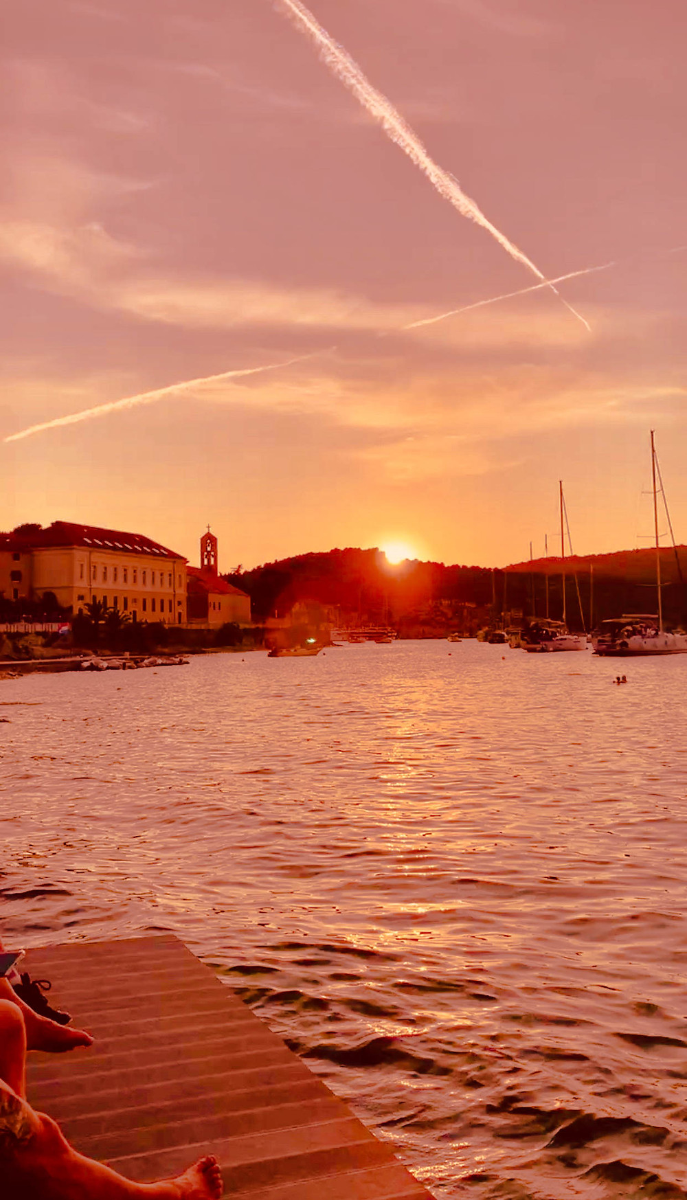 Vis Town at Sunset