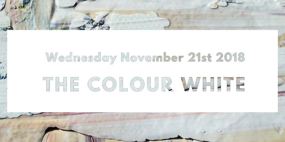 Palette to Palate: The Colour White