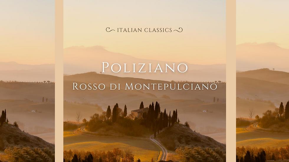 Rosso di Montepulciano, Poliziano, Tuscany, 2018