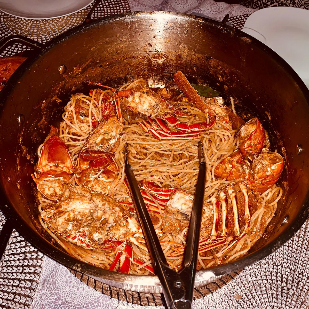 Lobster Spaghetti at Augusta Insula