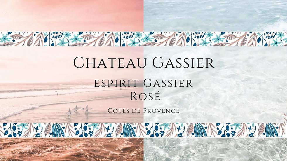 Chateau Gassier, Espirit de Gassier, Côtes de Provence Rosé, 2019