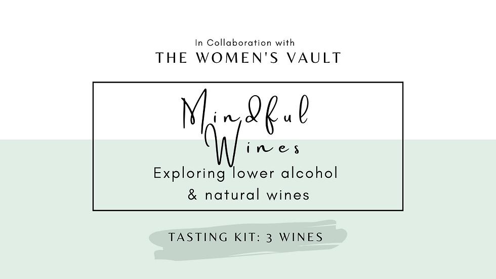 Mindful Wines Tasting Kit: 3 Wines