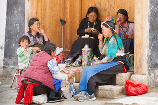Tibetan nomads, Labrang Monastery, Xiahe
