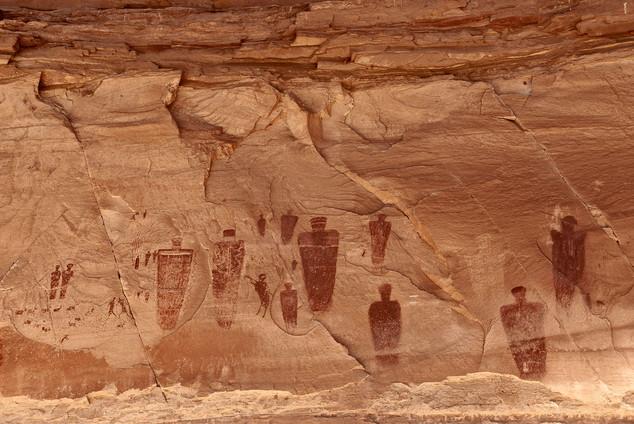 Great Gallery (detail), Horseshoe Canyon, USA