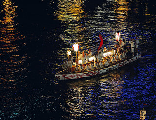 Dondoko boat, Tenjin Matsuri Festival, Osaka