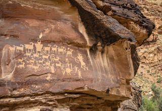 The Hunting Scene petroglyphs, Nine Mile Canyon, USA