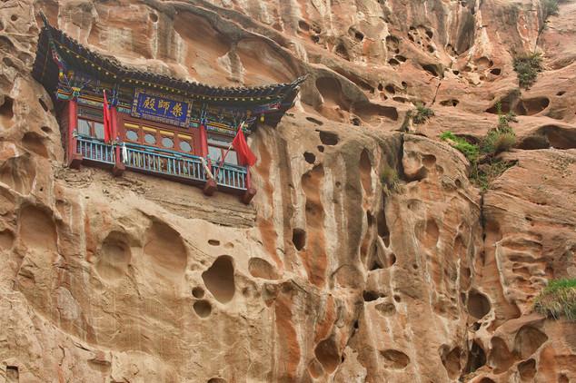 Suspended pagoda in Mati Si, Zhangye