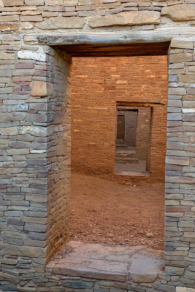 Enfilade, Pueblo Bonito, Chaco National Historical Park, USA
