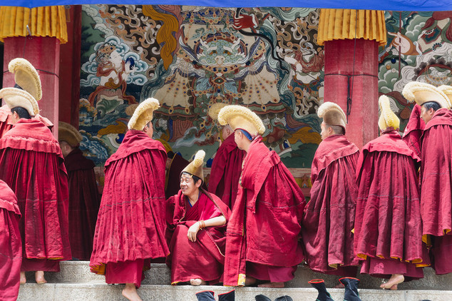 Tibetan monks, Labrang Monastery, Xiahe