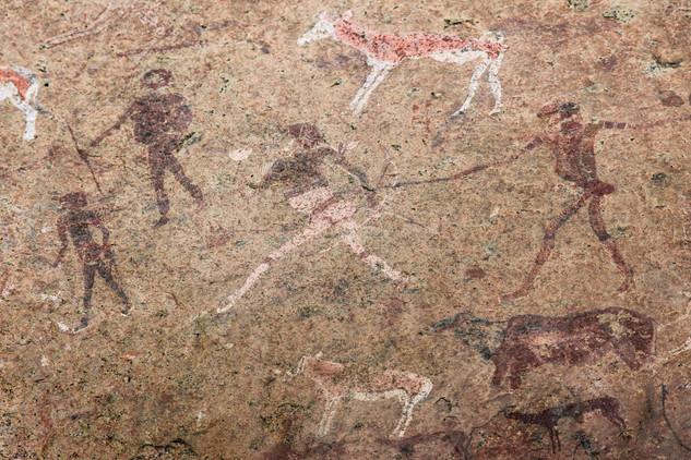 The White Lady Group (detail), Brandberg, Namibia