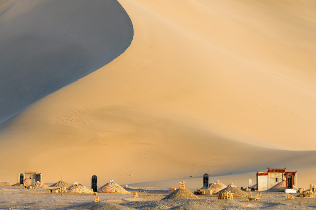 Graves in Singing Sands Dunes, Dunhuang