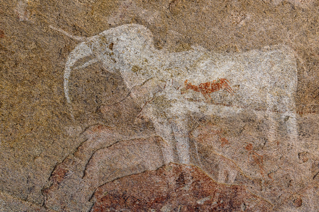 The White Elephant pictograph, Phillipp's Cave, Namibia