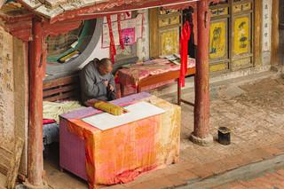 Monk at Mati Si, Zhangye