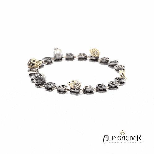 Viper Bracelet 5 Skulls