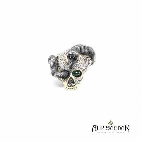 Skull and Snake Ring